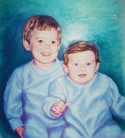 artist oil painting the boys