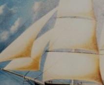 artist oil painting blending elements