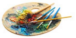 artist oil painting blending