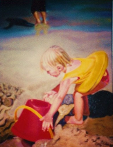 artist oil painting Maggies Pail