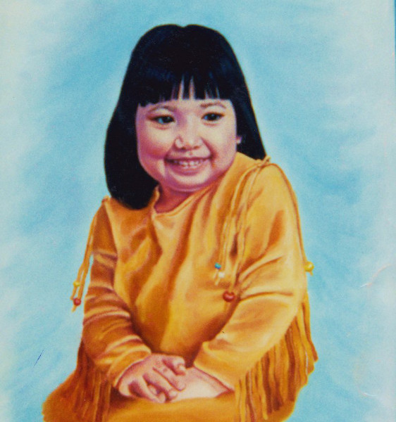 artist oil painting maliseet child karin cohen