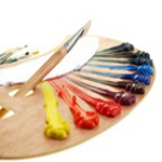 artist oil painting materials palette-