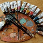 artist oil painting materials