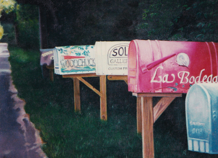 artist oil painting mailboxes karin cohen