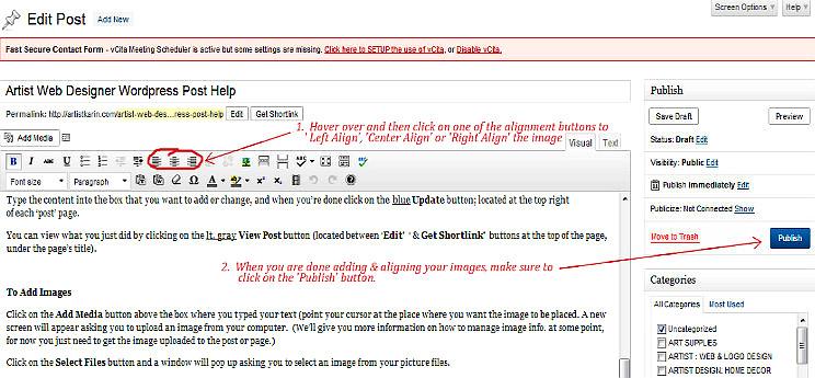 artist-web-design-wordpress-post-help
