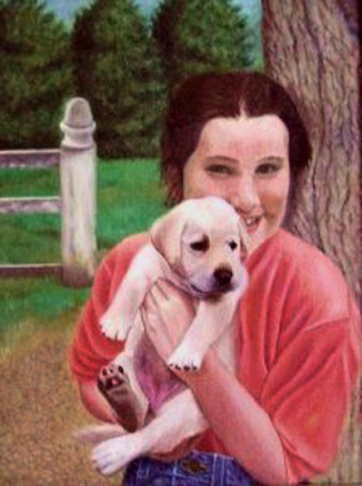 artist oil painting | Beccas New Puppy