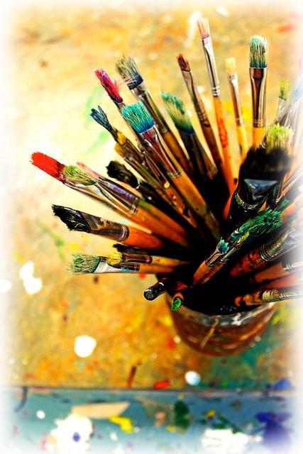 artist oil painting brushes