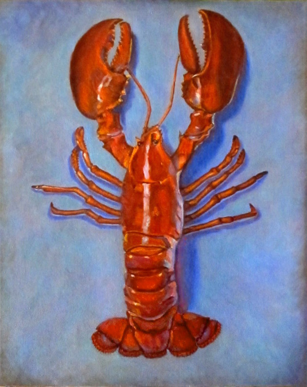 artis toil painting Lobstah Karin Cohen
