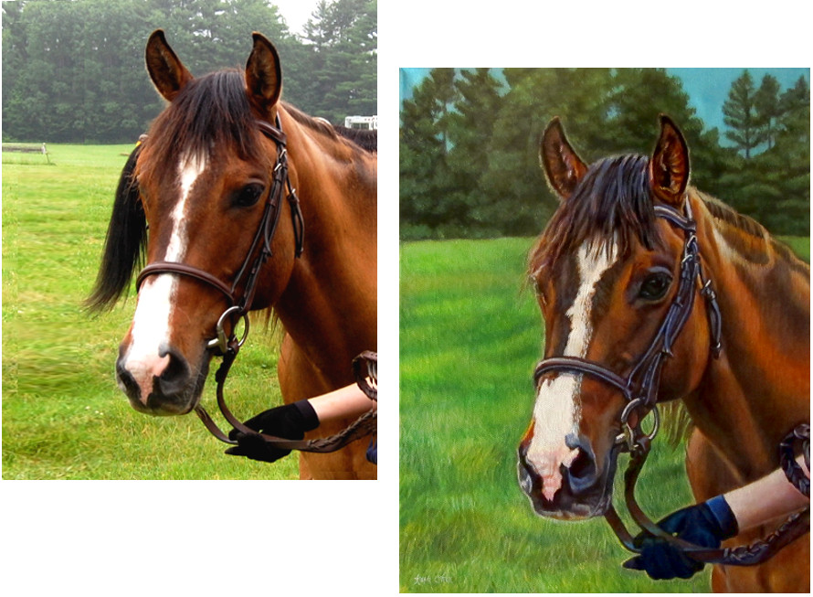 oil paintings commissioned horse