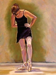 artist oil painting balance ballet dancer painting